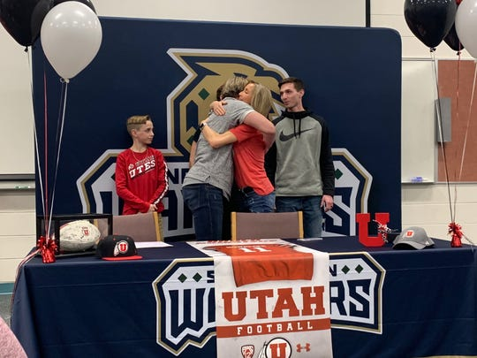 Snow Canyon's Brock Nowatzke signed a preferred walk-on offer to the University of Utah on Wednesday, February 5th.