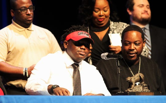 Godby offensive lineman Josh Yarbrough signed with Clark Atlanta University on national signing day, Feb. 5, 2020.