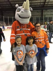 The kids will be able to paint the ice with the El Paso Rhinos after Sunday's game.