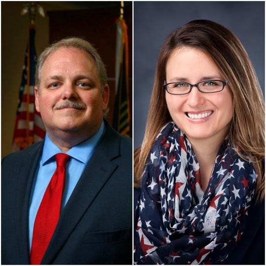 Wausau Mayor Robert Mielke, left, and challenger Katie Rosenberg will face off in the April 7 election.