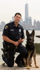 Rockland Sheriff's Officer Angelo Bragagalia with K9 Mac, a 2-year-old German Shephard
