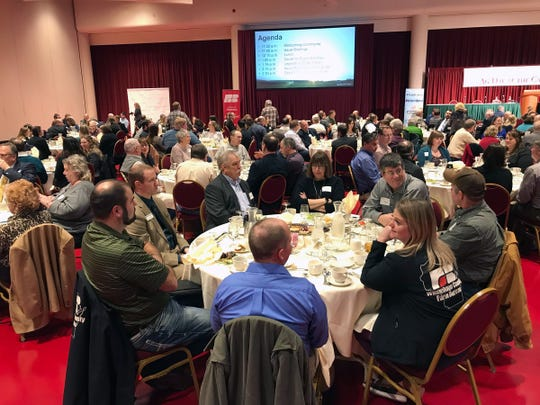 More than 330 farmers and agriculturists gathered at the Monona Terrace in Madison for Ag Day at the Capitol on Feb. 4. Ag Day at the Capitol is an annual event for Wisconsin farmers and agriculturists to learn more about state issues affecting agriculture and meet with their state legislators.