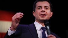 CONCORD, NEW HAMPSHIRE - FEBRUARY 04: Democratic presidential candidate, South Bend, Indiana Mayor Pete Buttigieg greets supporters on February 04, 2020 in Concord, New Hampshire. Buttigieg holds a narrow lead over Sen. Bernie Sanders (I-VT) in the Iowa caucuses after an app used by the state Democratic Party to count results caused overnight delays, according to published reports.  (Photo by Spencer Platt/Getty Images) ORG XMIT: 775473246 ORIG FILE ID: 1204095908