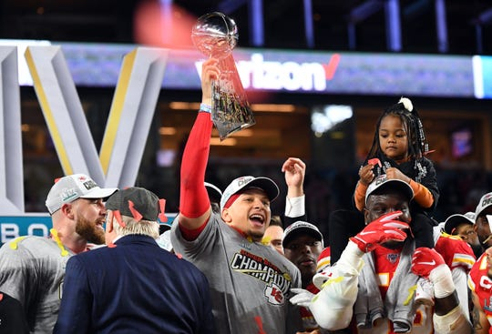 1. Kansas City Chiefs (4): With Super Bowl MVP Patrick Mahomes emerging as league's primary face, newly crowned champs appear to have staying power as long as young core -– including free agent DT Chris Jones -– and HC Andy Reid remain together.