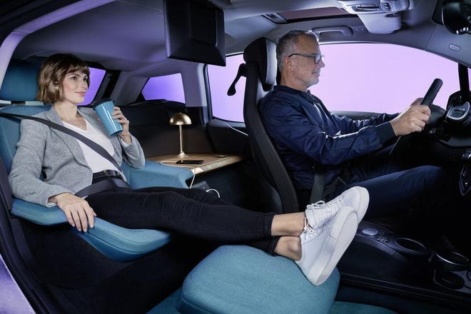 BMW's i3 Urban Suite envisions a future where cars are more like tiny hotel rooms.