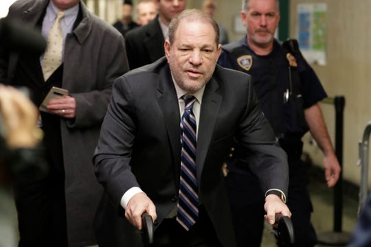 Harvey Weinstein arrives at courthouse for his sex-crimes trial in New York, Feb. 5, 2020.
