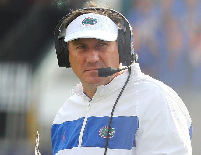 Dan Mullen has a 21-5 record in two seasons as the head coach at Florida.