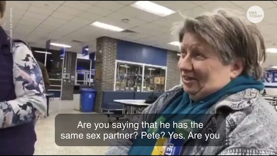 She pulled her vote when she found out Pete Buttigieg is gay. He says`I'm running to be her president too.'