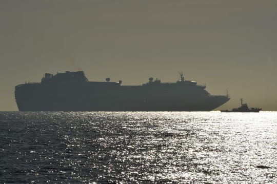 The Diamond Princess cruise ship sits anchored under quarantine off the coast of Japan after 10 passengers tested positive for coronavirus. The ship will remain under quarantine for 14 days but will be allowed to go out to sea to make fresh water and complete other routine tasks.