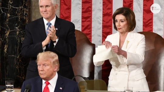 Pelosi says she 'had no intention' to tear up Trump's State of the Union until she read it