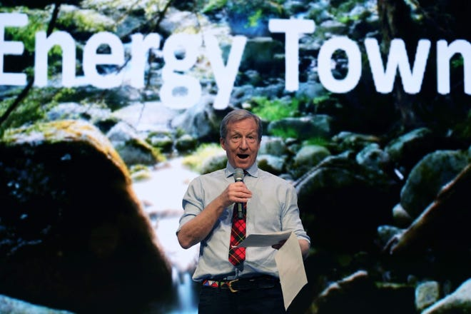 Former Democratic presidential candidate Tom Steyer has been named to California Gov. Gavin Newsom's task force to help reopen the state.