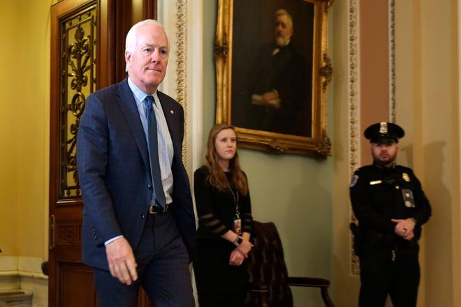 Sen. John Cornyn, R-Texas, in the U.S. Capitol in this Associated Press file photo.