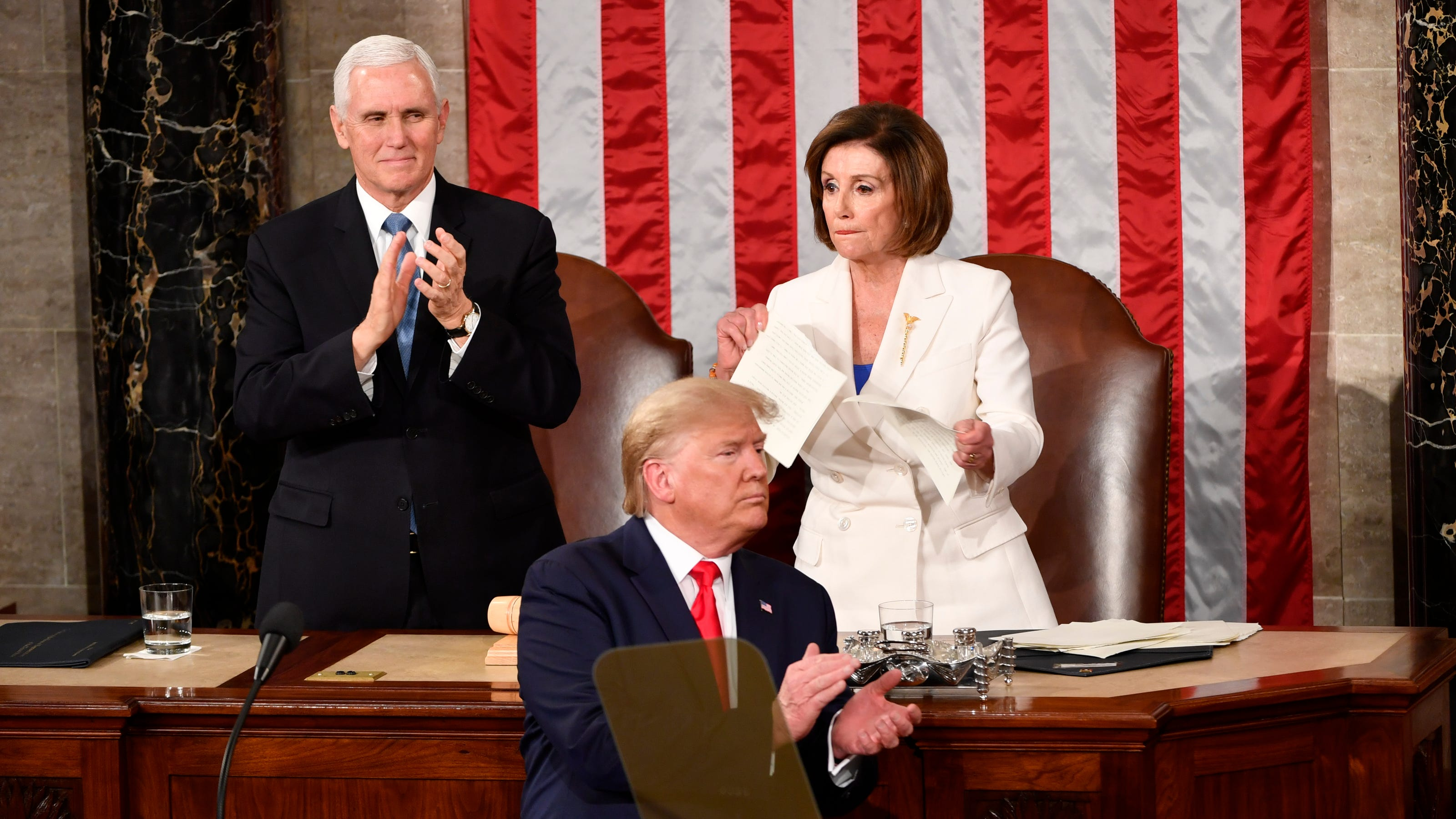 Trump says it's 'illegal' for Pelosi to tear up his State of the Union address. Experts say that's not true - USA TODAY thumbnail