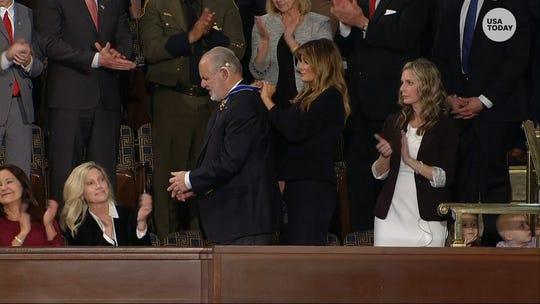 Melania Trump sits next to Rush Limbaugh at SOTU; Ivanka tweets family photo