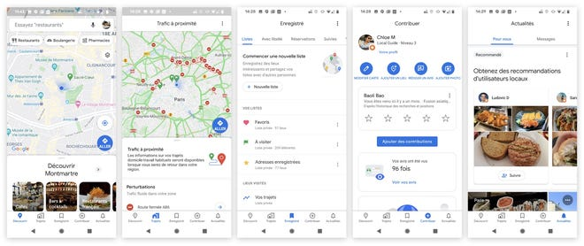 Google Maps can translate names and addresses in local languages.