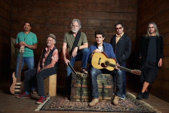Dead and Company, from left: Oteil Burbridge, Bill Kreutzmann, Bob Weir, John Mayer, Mickey Hart and Jeff Chimenti.