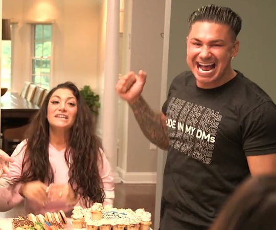 Deena Cortese and DJ Pauly D DelVecchio shown partying in a Feb.  6 teaser for the upcoming season of MTV's 'Jersey Shore Family Vacation.""