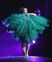 Angie Pontani performs during the Viva Las Vegas Rockabilly Weekend's Burlesque Showcase hosted by John Waters at the Orleans Arena on April 19, 2019 in Las Vegas, Nevada.