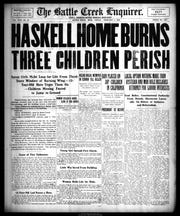 The February 5, 1909 edition of the Battle Creek Enquirer.