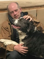 Chris Black was reunited with his dog, Odin, in Candor after Odin fled Black's home in Montrose in May.