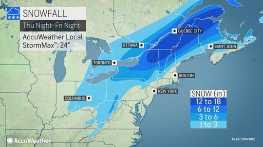 The Southern Tier could see mixed precipitation and several inches of snow on Friday.