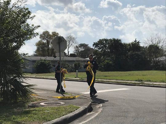 Cocoa police are investigating a Thursday afternoon shooting, possibly involving at least two vehicles