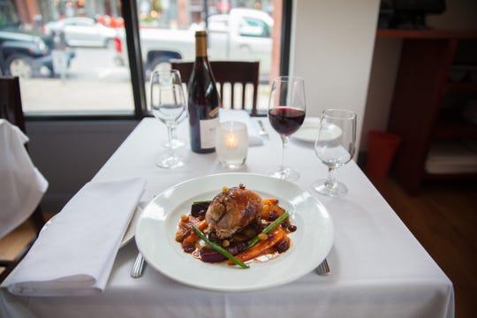 Bistro de Margot specializes in French cuisine in downtown Burlington.