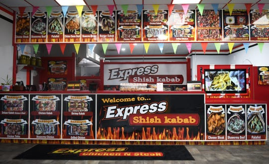 Interior of Express Shish Kabab in Pennsauken.  The take-out restaurant opened in January along Haddonfield Road.