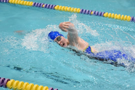 Hannah Tapp competed in the Frontier Athletic Conference (FAC) swimming championships at McClain High School on Feb. 5, 2020. Tapp and Chillicothe's Maddie Schafer, Isabella Fischer, and Danielle Fleurima won the 200-yard medley relay with a time of 2:05.16 while Tapp, Richardson, Wissler, and Fleurima also won the 400-yard freestyle relay with a time of 4:15.60. Individually, Tapp won the 50-yard freestyle with a time of 25.83 and the 100-yard freestyle with a time of 56.13