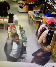 Linden police are looking to identify these two men who allegedly used credit cards stolen in Linden to making purchases at a shopping mall.