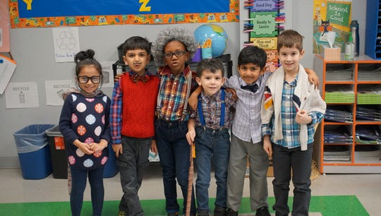 On Tuesday, Feb. 4, Thomas Edison EnergySmart Charter School (TEECS)'s' elementary students and teachers celebrated the 100th Day of School. There were many 100-year-old little men and women walking around the halls. Some with canes, some with robes, some with glasses and grey hair.