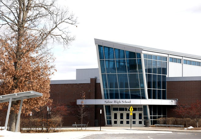 Saline High School as seen on Wednesday, February 5, 2020.