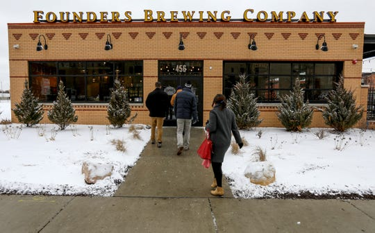 Founders Brewing Co. reopened at 11 am on Thursday, February 6, 2020 after being closed for more than 3 months because of a racial discrimination lawsuit.