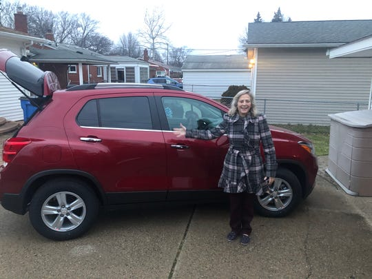 Evangeline Johnson, a secretary from Dearborn Heights, traded her 2017 Chevrolet Trax for a 2020 Chevrolet Trax in January. She said working with a car concierge made her realize she'll never return to a dealership.