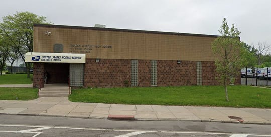 United States post office located at 12734 E. Jefferson Ave. in Detroit.