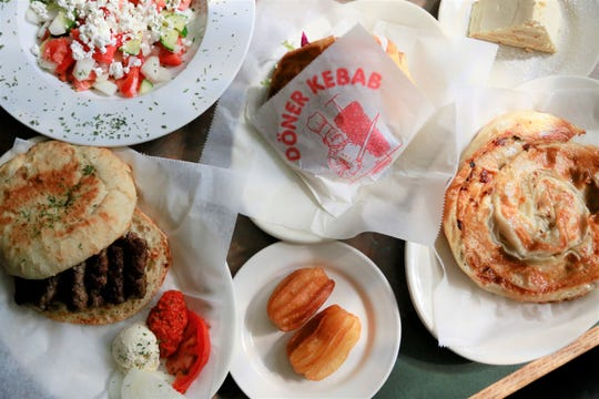 A spread of dishes from Balkan House in Hamtramck.