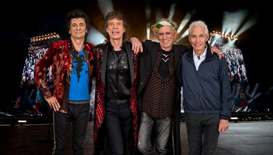 The Rolling Stones (from left): Ronnie Wood, Mick Jagger, Keith Richards, Charlie Watts