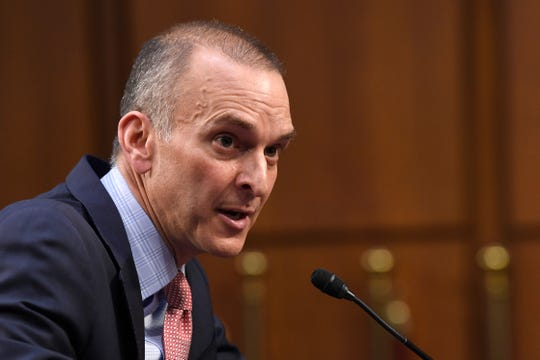U.S. Anti-Doping Agency Chief Executive Officer Travis Tygart testifies during a Senate Commerce, Science, and Transportation Committee hearing on Capitol Hill in Washington, Wednesday, Feb. 5, 2020.