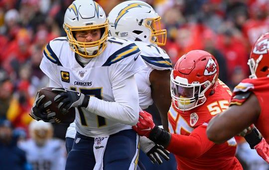 Chargers quarterback Philip Rivers threw 20 interceptions last season, his 16th in the NFL.