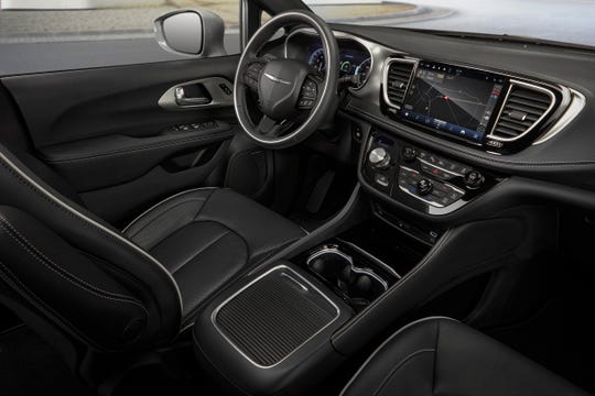 The interior of the 2021 Chrysler Pacifica Limited features the new Uconnect 5 system with a 10.1-inch touchscreen that is the largest standard touchscreen it its class.