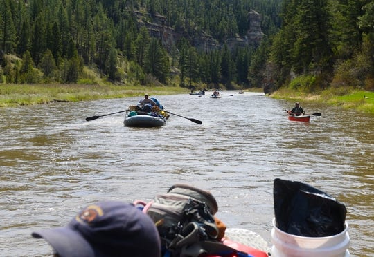 A Smith River traffic jam. Float recreation on the Smith has been suspended through April 24 to comply with the state's directives on social distancing.