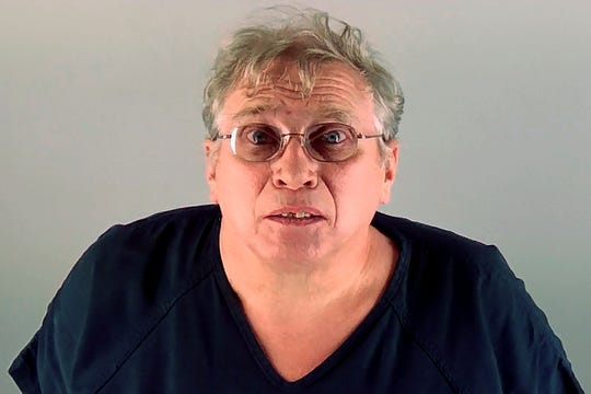 FILE - This 2017 photo provided by the Deschutes County, Ore., District Attorney's Office shows Roger Sinclair. Sinclair had been accused of abuse in at least two other states but had never been criminally charged when he moved to Oregon, where he was arrested and convicted for abusing a vulnerable adult. (Deschutes County District Attorney's Office via AP)
