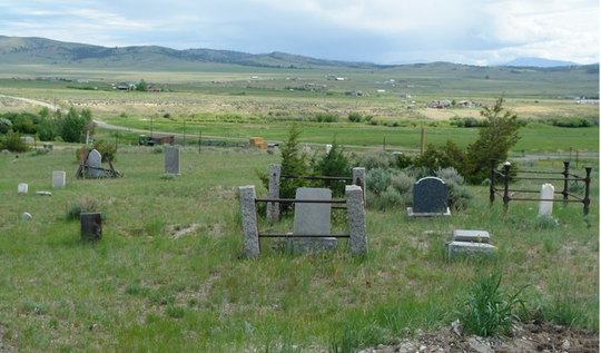 The Silver City Cemetery.
