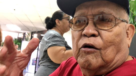 World War II survivor Francisco T. Diaz, 89, says he can't forget the horrific images of that day when he was forced by the Japanese to witness the beheading of three CHamoru men who refused to lower the American flag, and to see their bodies and severed heads went straight to the holes they were also forced to dig, during the war. Diaz was among war survivors to receive an advance war reparation on Feb. 6, 2020, or nearly 76 years after Guam's liberation from Japanese occupation.
