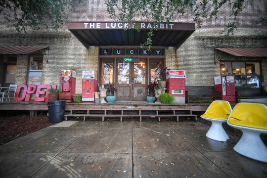 The Lucky Rabbit, 217 Mobile St. in Downtown Hattiesburg, offers unique, curated vintage items for sale the first Thursday through Sunday monthly, pictured here Thursday, Feb. 6, 2020.