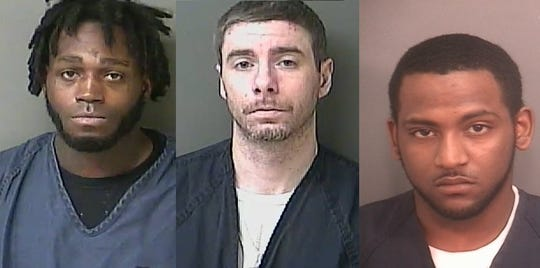 Troy Lamar Wilson, Uriah M. Levy and Steven B. Allen pictured from left to right. All three men have been identified as suspects in connection to the slaying of Lashay R. Young-Beard in Kokomo.