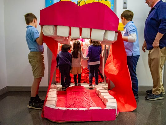 Fifth-graders at Episcopal School of Acadiana put on a tour of the digestive system for pre-K students Thursday, Feb. 6, 2020.