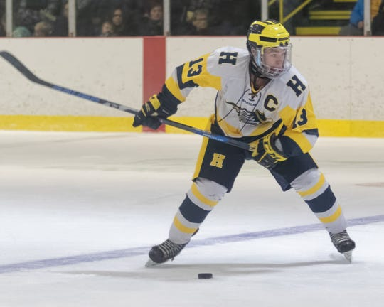 Dakota Kott had a goal and two assists for Hartland in a 6-3 victory over Plymouth.