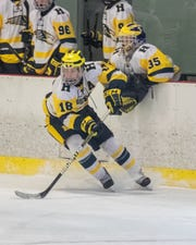 Hartland's Adam Pietila had two goals and one assist in a 6-3 victory over Plymouth.