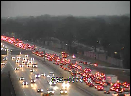 Three separate crashes on the Watterson Expressway / Interstate 264 West are causing delays Thursday morning by Newburg, Bardstown and Taylorsville roads in Louisville. Feb. 6, 2020